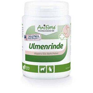 AniForte amerikanische Ulmenrinde Pulver 100g – Naturprodukt für Hunde mit Magen-Darm Problemen
