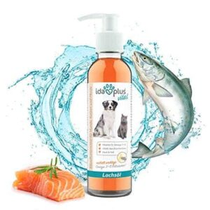Premium Lachsöl für Hunde in Lebensmittelqualität mit Omega 3 & 6 Fettsäuren- 200 ml Pumpflasche