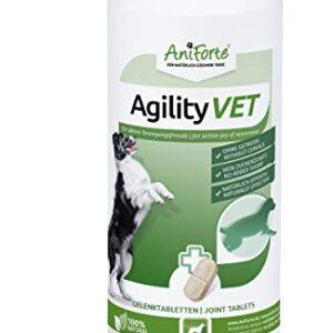 AniForte Gelenktabletten für Hunde AgilityVet – 300 natürliche Gelenk Tabletten mit Grünlippmuschel, Teufelskralle, Kollagen, Glucosamin, Chondroitin, Hyaluronsäure, Hohe Akzeptanz beim Hund