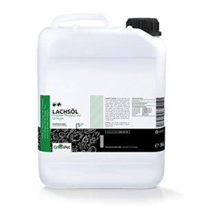 GreenPet frisches kaltgepresstes Omega 3 Lachsöl 5 Liter in Premiumqualität, kein minderwertigeres Fischöl oder Fischlachsöl für Hunde Hund & Pferde
