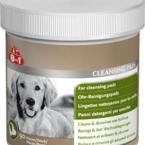 8in1 Ohren-Reinigungspads (speziell für die Ohrenhygiene bei Hunden entwickelt), wiederverschließbare Dose (1 x 90 Stück)